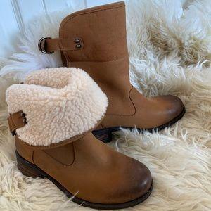 Ugg Australia Aldon Short Boots Shearling New 7.5